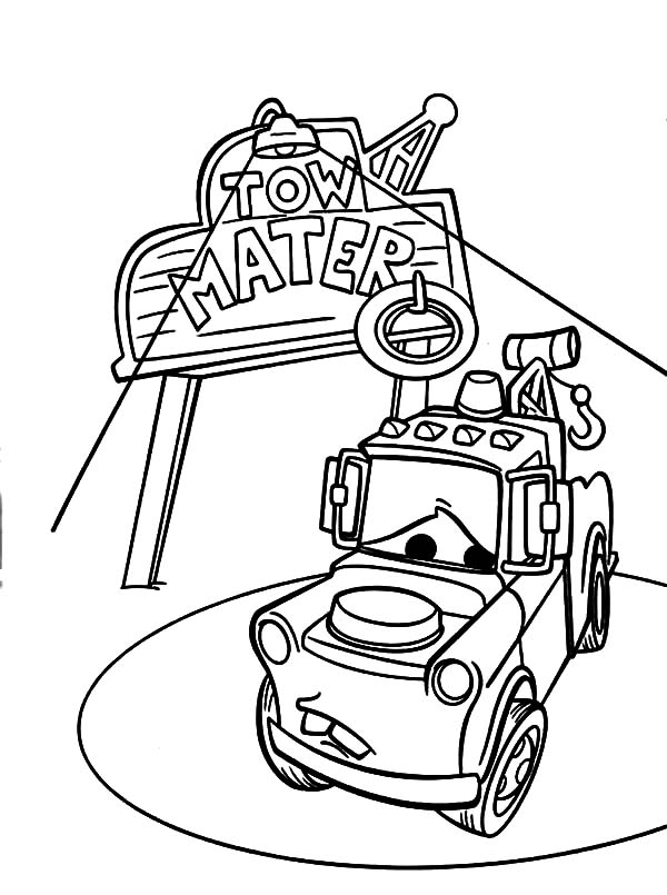 mater coloring page tow mater from cars 3 coloring page free printable mater coloring page