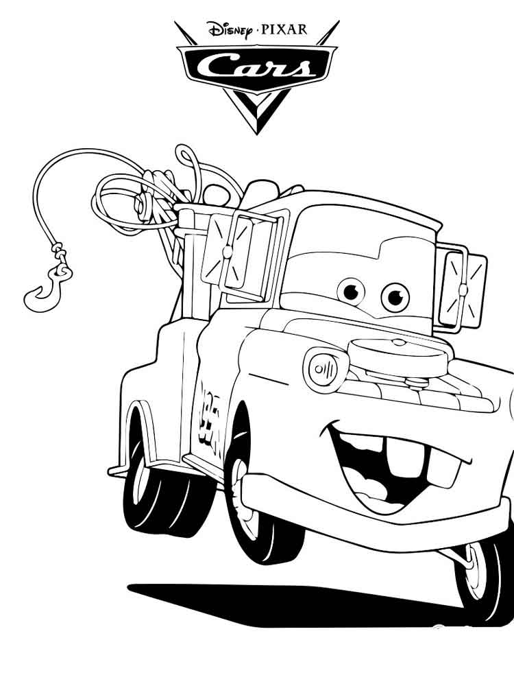 mater coloring page tow mater say hallo to mcqueen coloring pages color luna page coloring mater