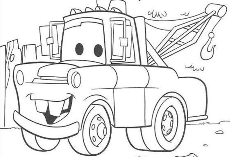 mater coloring page tow mater sketch at paintingvalleycom explore mater page coloring