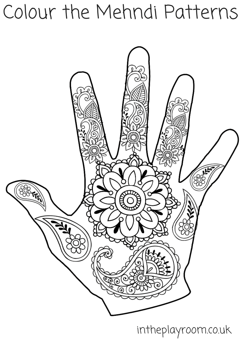 mehndi coloring pages handdrawn abstract henna mehndi flower ornament stock coloring mehndi pages