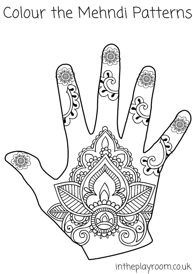 mehndi coloring pages vector henna tatoo mandala mehndi styledecorative coloring pages mehndi