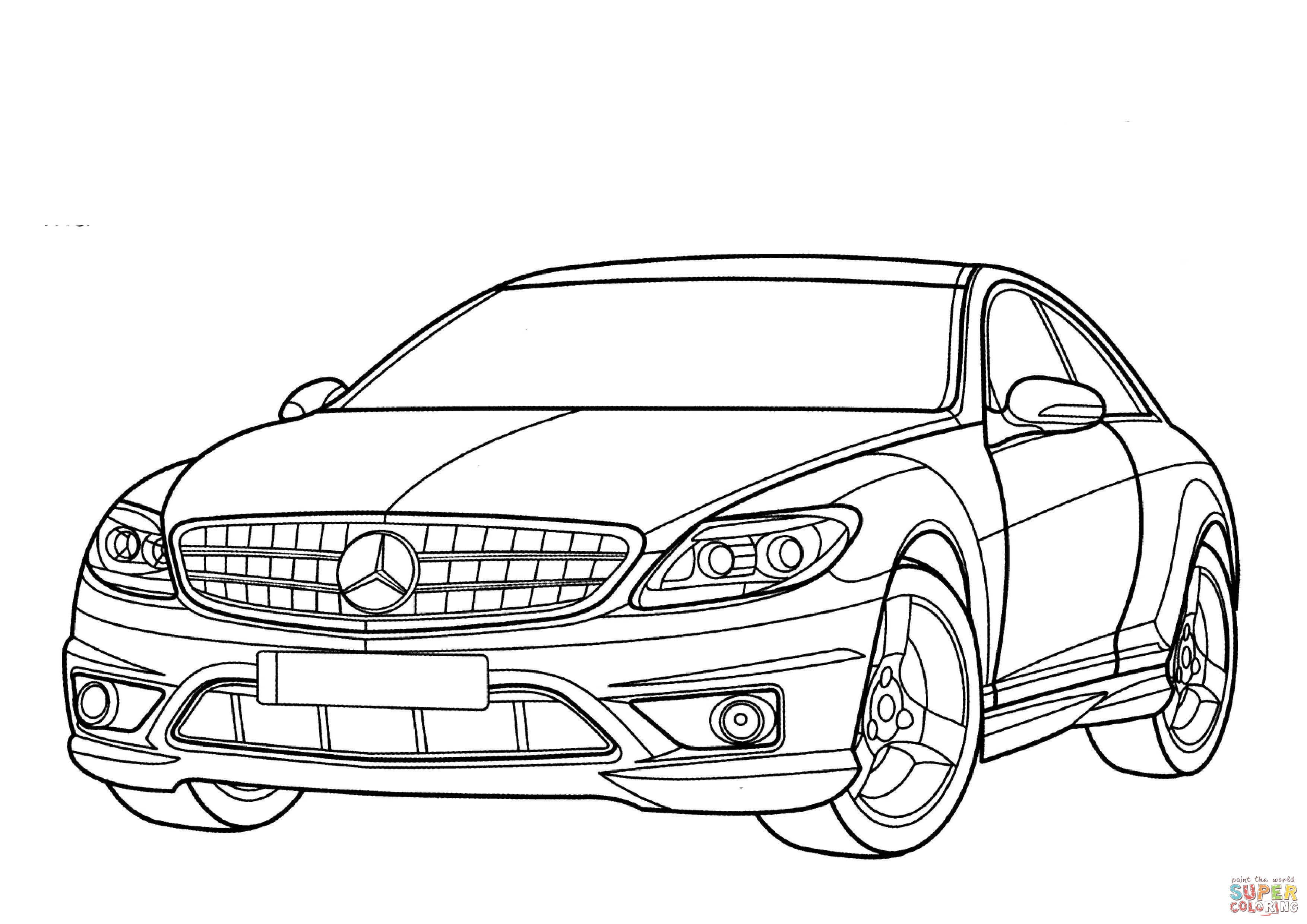 mercedes coloring mercedes benz sl class coloring page free printable coloring mercedes