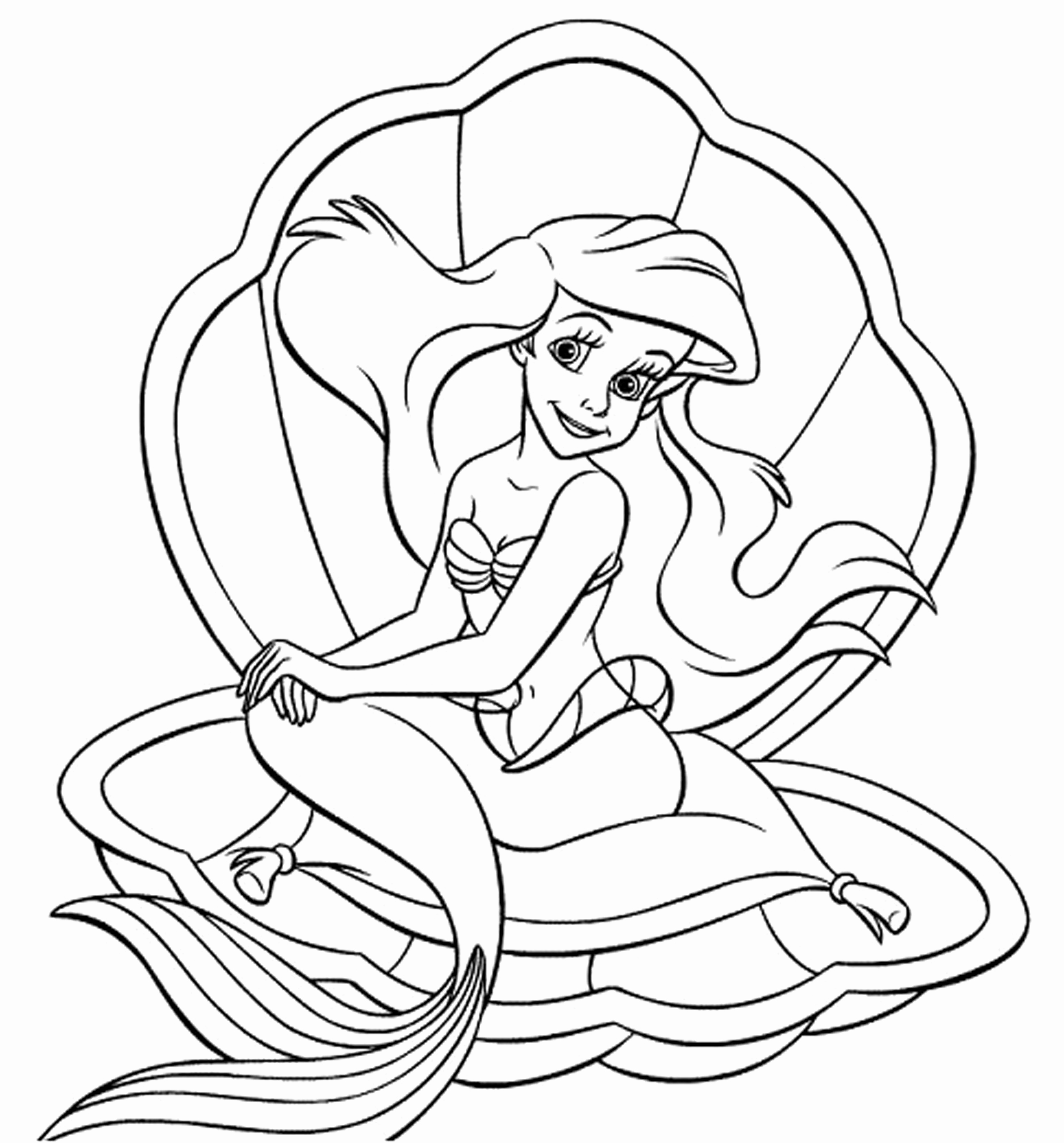 mermaid coloring pages online ariel the little mermaid coloring pages at getdrawings mermaid pages online coloring