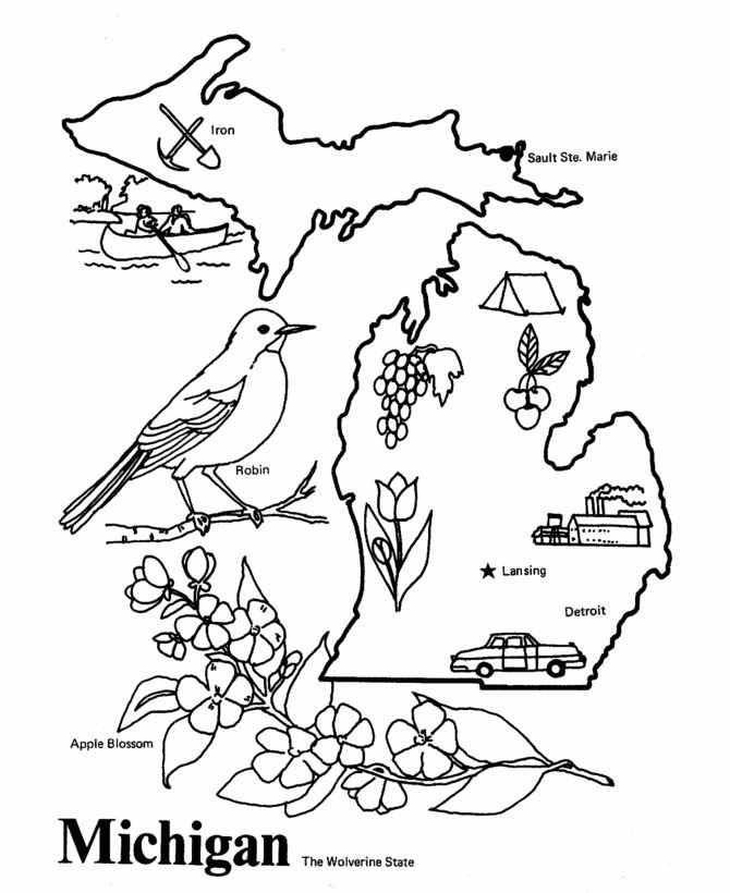 michigan state flag coloring page iowa state coloring pages at getcoloringscom free coloring flag state michigan page