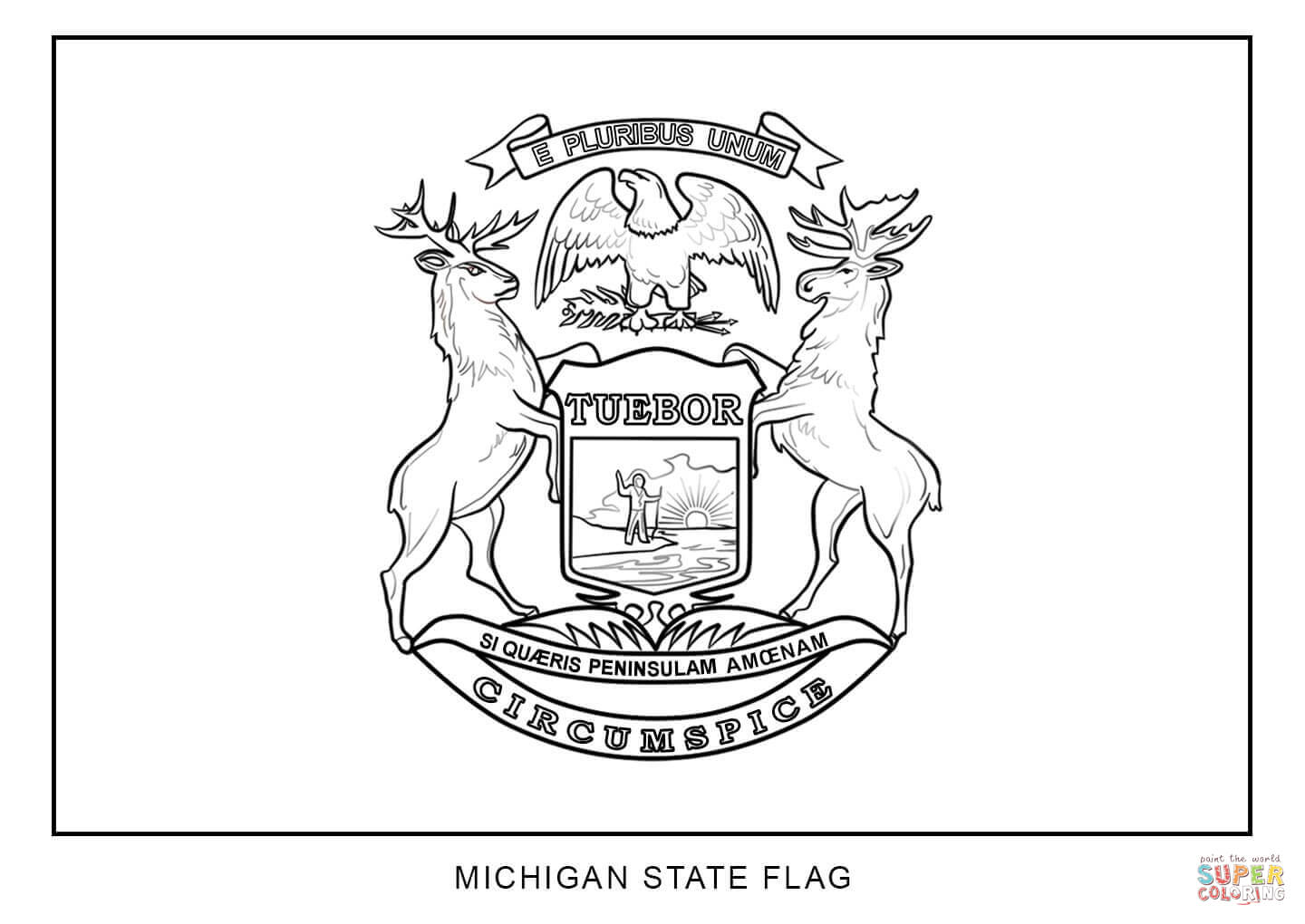 michigan state flag coloring page michigan state flag coloring page flag coloring pages michigan flag state page coloring