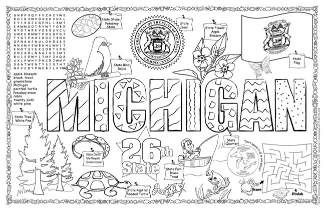 michigan state flag coloring page msu coloring pages at getcoloringscom free printable state page flag michigan coloring