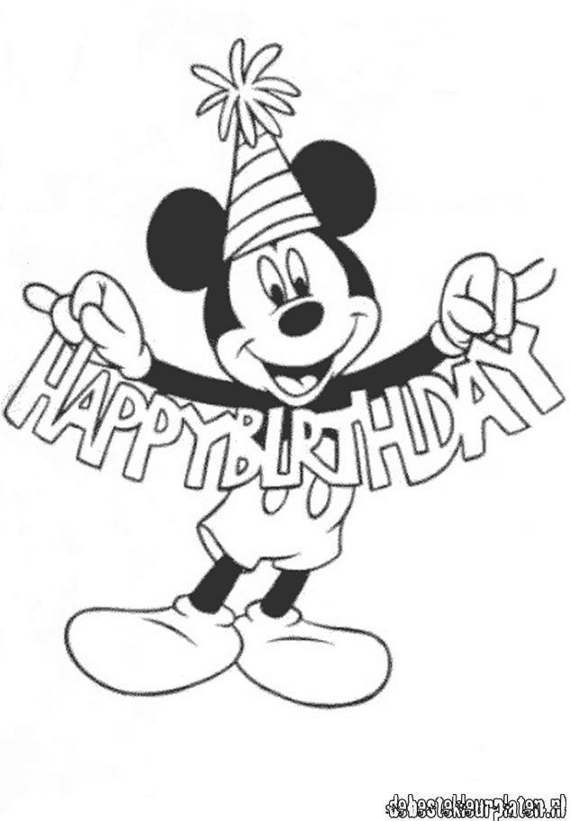 mickey birthday coloring pages happy birthday coloring pages free download on clipartmag pages birthday coloring mickey