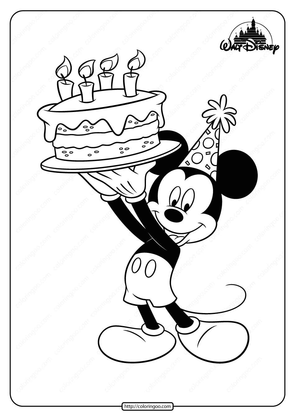 mickey birthday coloring pages mickey mouse happy birthday coloring page at getdrawings birthday coloring pages mickey