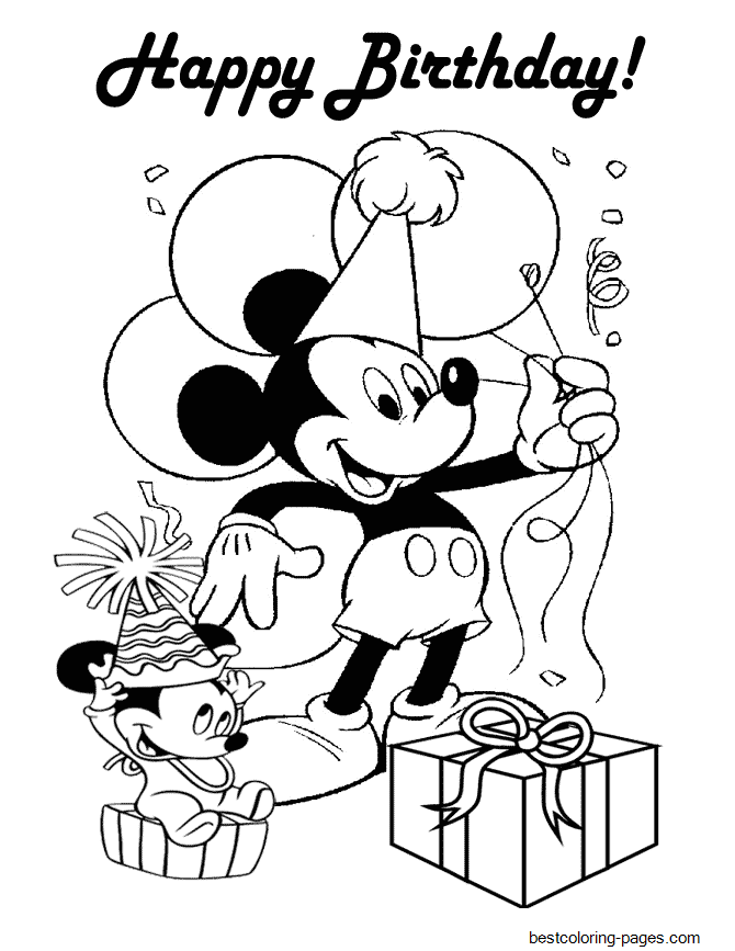 mickey birthday coloring pages transmissionpress birthday coloring pages birthday mickey pages coloring