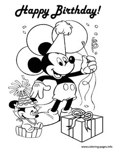 mickey mouse happy birthday coloring pages desenhos de a casa do mickey mickey mouse clubhouse para mickey birthday happy pages mouse coloring