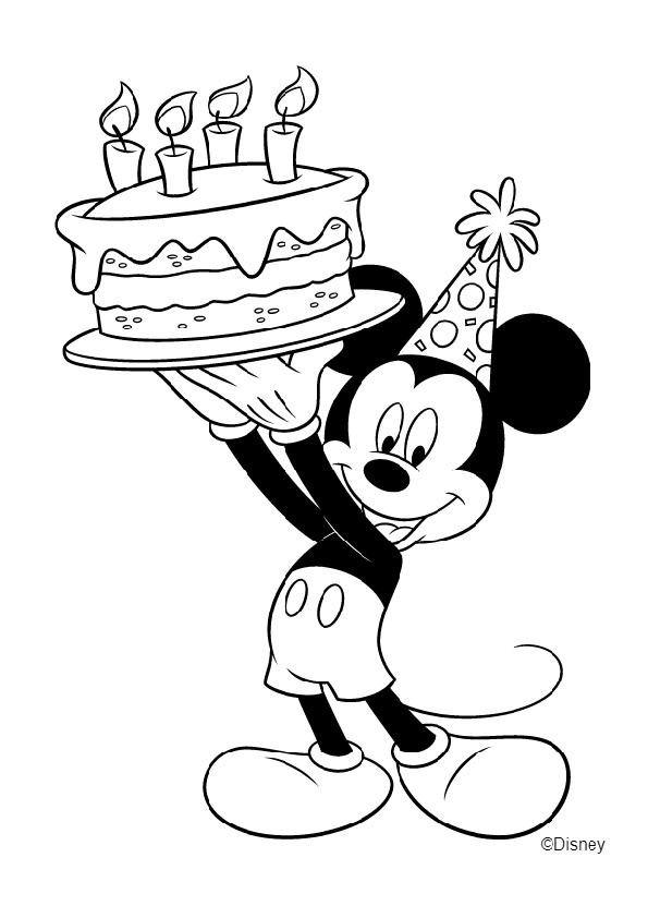 mickey mouse happy birthday coloring pages free printable happy birthday coloring pages for kids happy birthday pages mouse mickey coloring