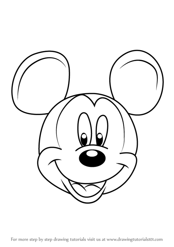 mickey mouse how to draw easy mickey mouse drawing at getdrawings free download how mickey draw mouse to