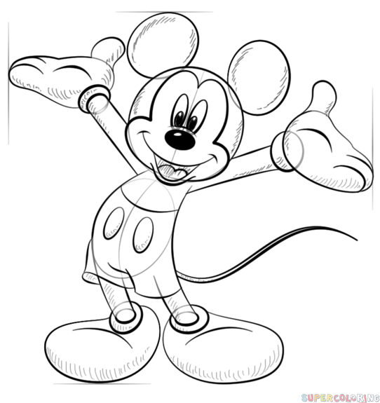 mickey mouse how to draw mickey mouse sketch at paintingvalleycom explore draw how mickey mouse to