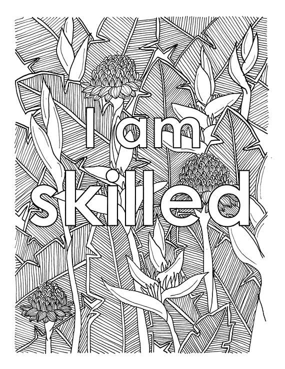 middle school coloring pages pdf i am two of the most powerful words for what you put coloring pages middle school pdf