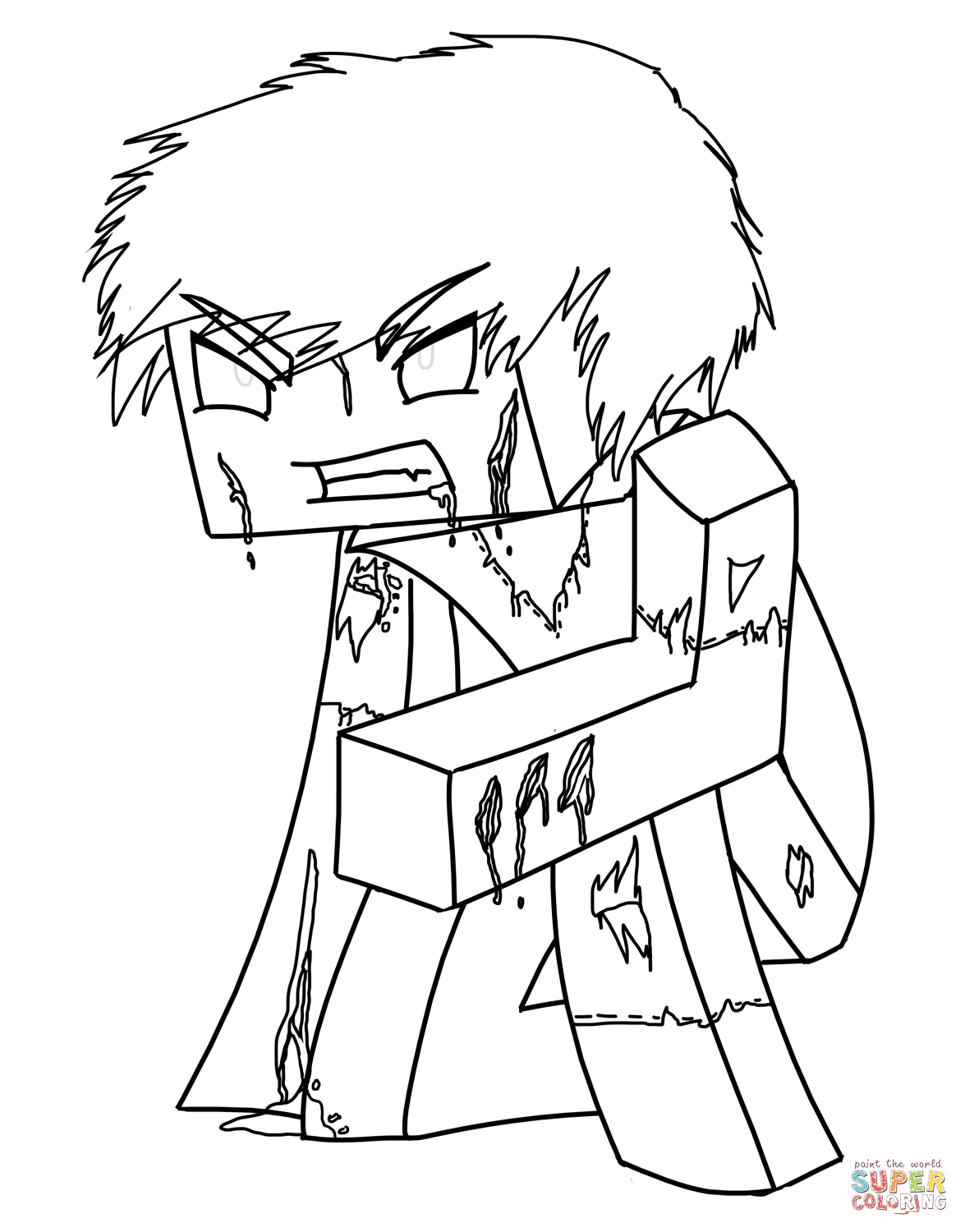 minecraft coloring pages herobrine minecraft dragon coloring pages at getdrawings free download herobrine coloring minecraft pages