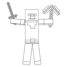 minecraft coloring pages herobrine minecraft sword coloring pages coloring home coloring herobrine minecraft pages