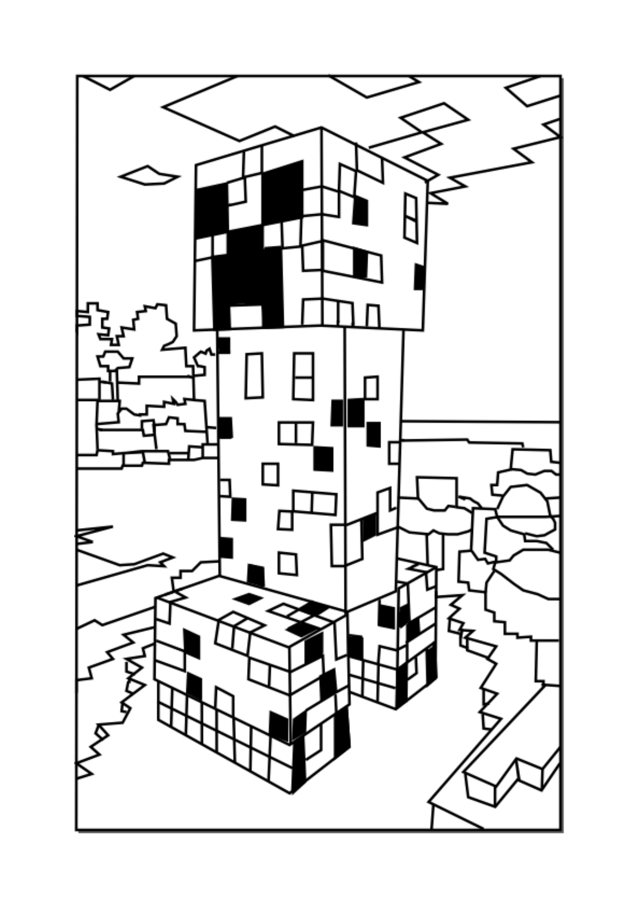 minecraft coloring sheet minecraft coloring pages best coloring pages for kids minecraft coloring sheet