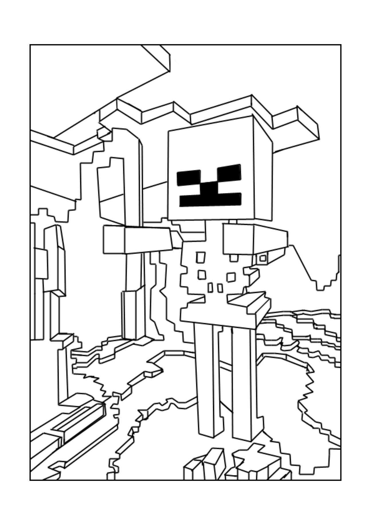 minecraft colouring pages free minecraft iron golem coloring pages at getdrawings free colouring free minecraft pages