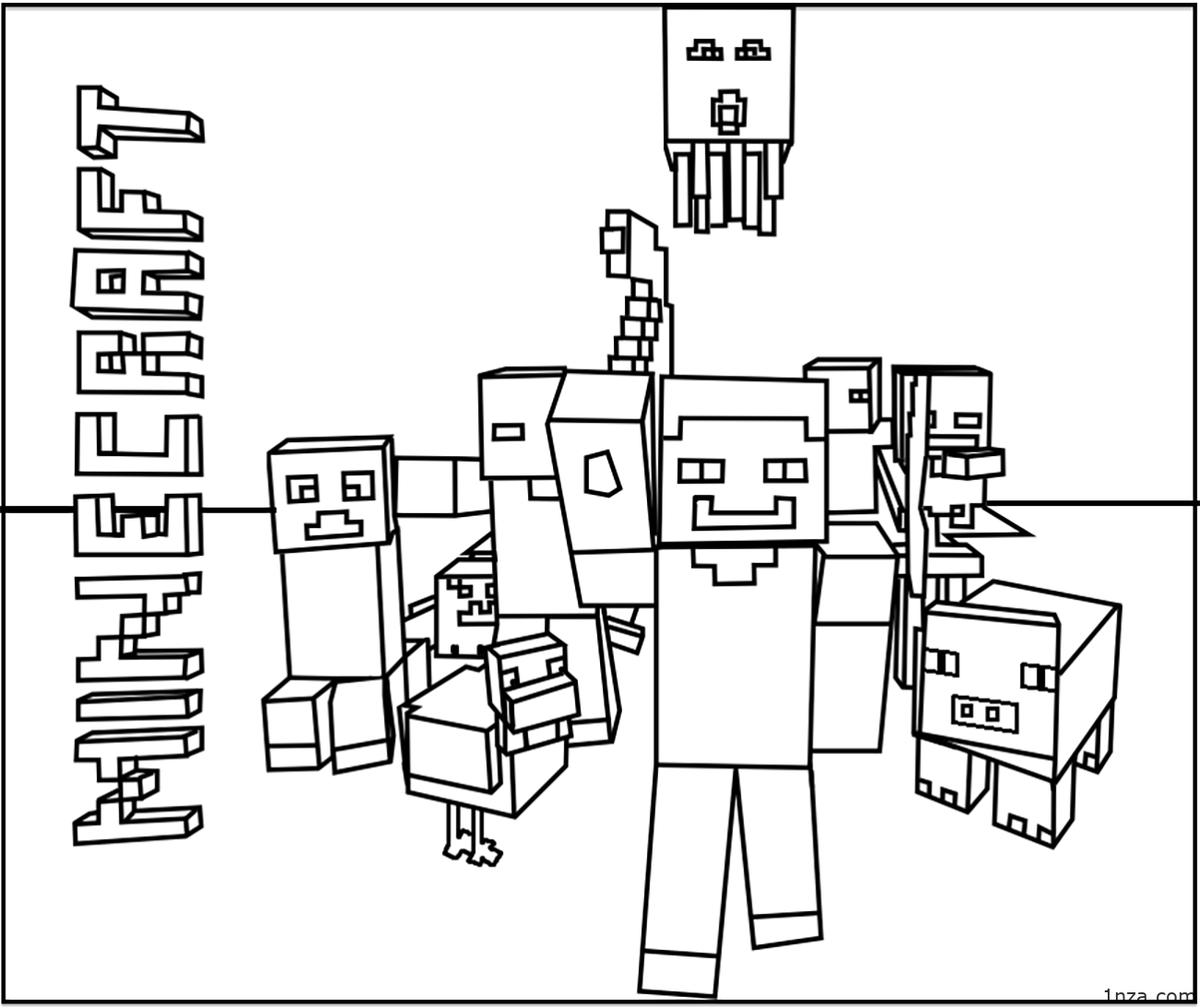 minecraft colouring pages free minecraft mobs a minecraft coloring page for kids minecraft free colouring pages
