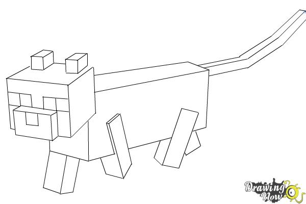 minecraft ocelot coloring pages how to draw an ocelot from minecraft drawingnow minecraft coloring pages ocelot