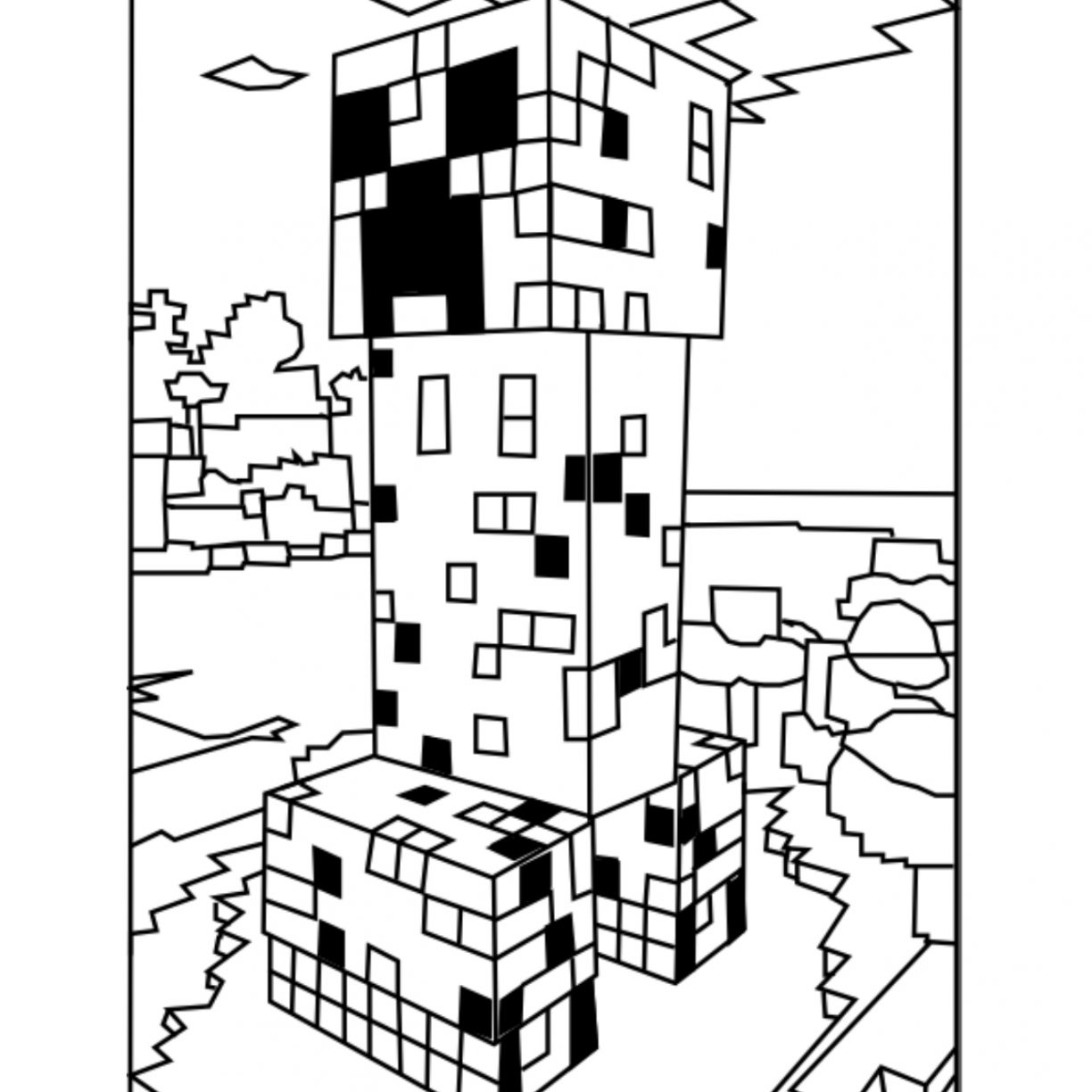 minecraft ocelot coloring pages minecraft alex coloring pages at getdrawings free download minecraft coloring pages ocelot