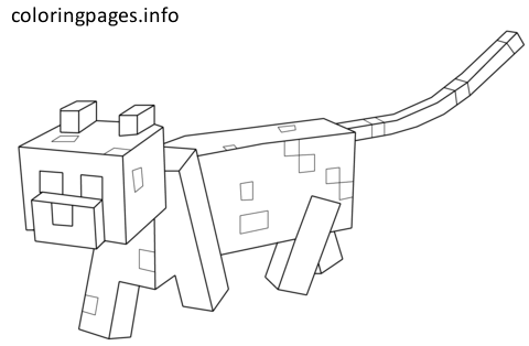 minecraft ocelot coloring pages minecraft cat coloring pages minecraft cat cat coloring coloring minecraft pages ocelot