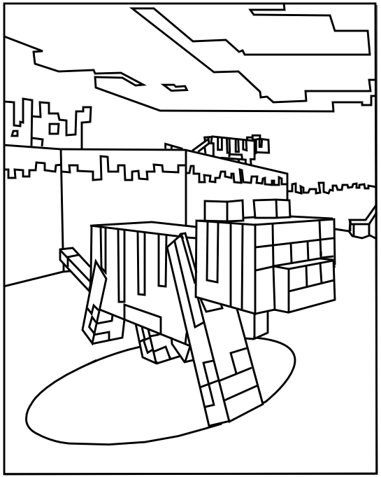 minecraft ocelot coloring pages minecraft coloring pages minecraft pages coloring ocelot