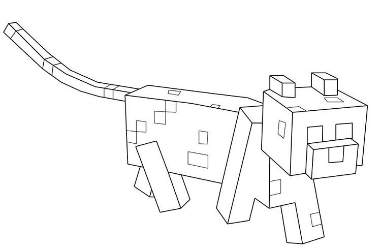 minecraft ocelot coloring pages minecraft coloring pages ocelot printable coloring pages minecraft ocelot coloring pages