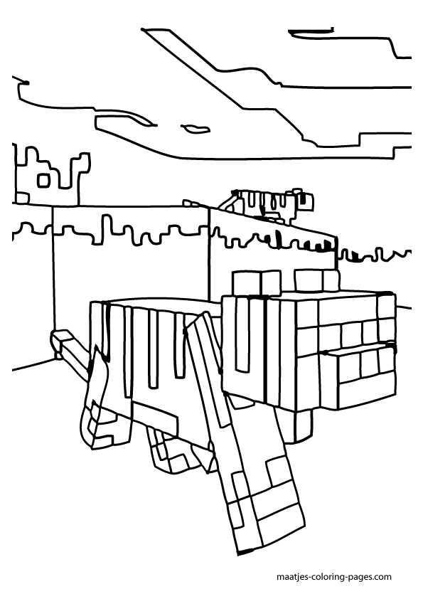 minecraft ocelot coloring pages minecraft ocelot coloring page minecraft coloring ocelot pages