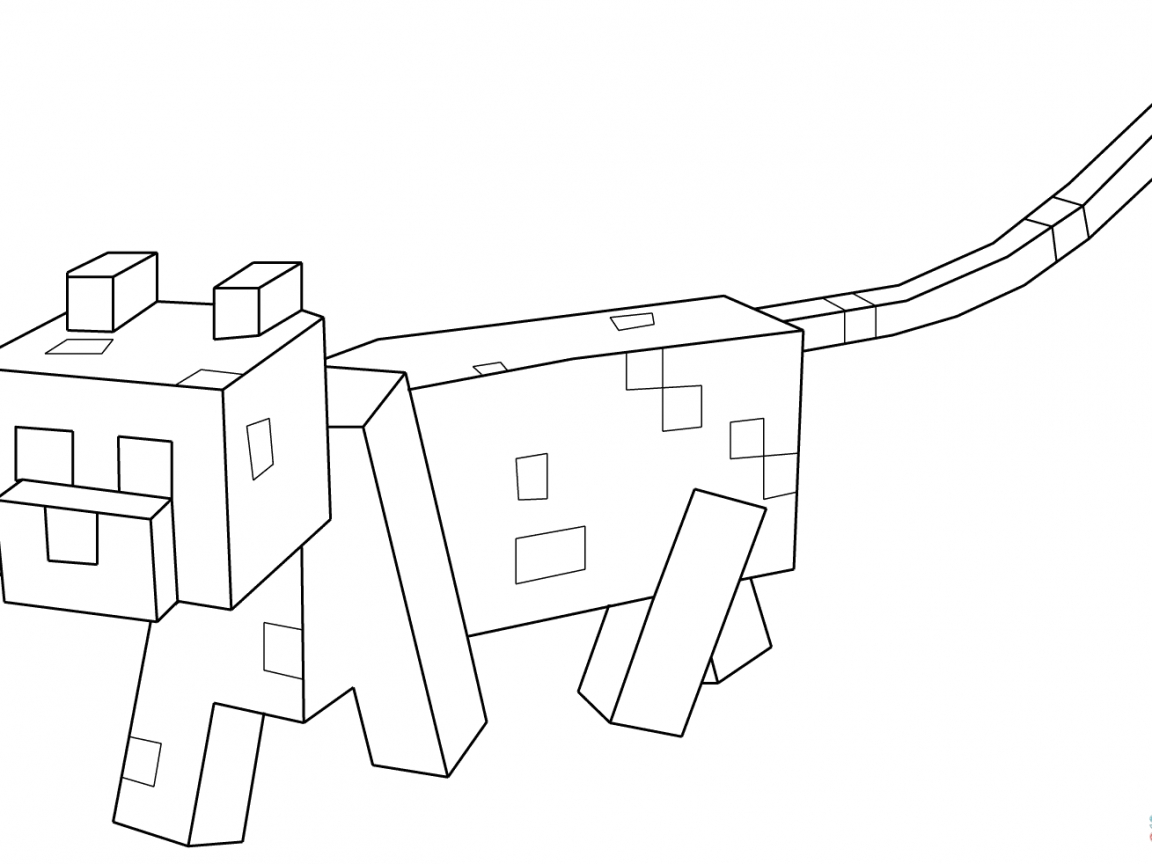 minecraft ocelot coloring pages minecraft ocelot coloring pages at getcoloringscom free pages ocelot coloring minecraft