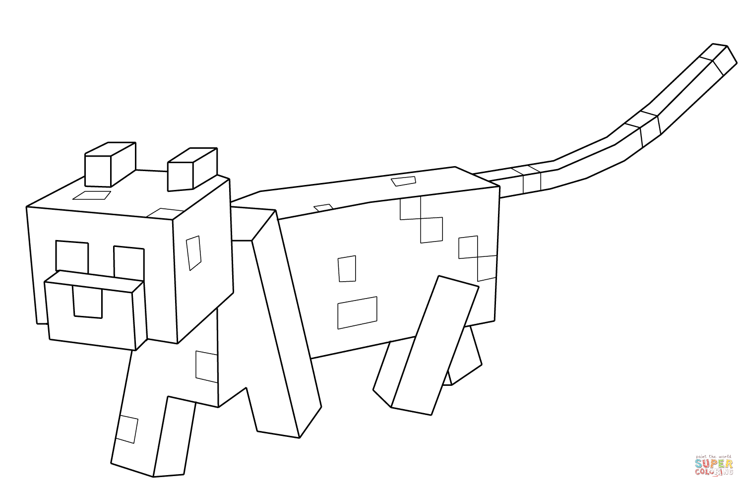 minecraft ocelot coloring pages minecraft ocelot coloring pages get coloring pages minecraft pages coloring ocelot