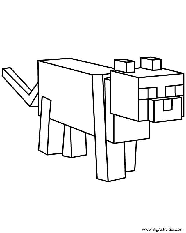 minecraft ocelot coloring pages minecraft ocelot coloring pictures high quality coloring ocelot coloring pages minecraft