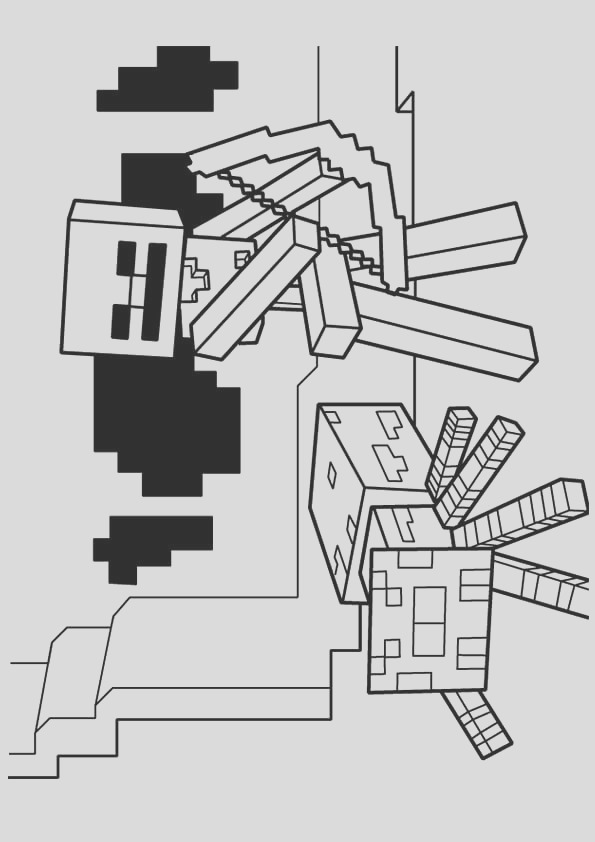 minecraft spider drawing 37 best of images of minecraft spider coloring page drawing minecraft spider