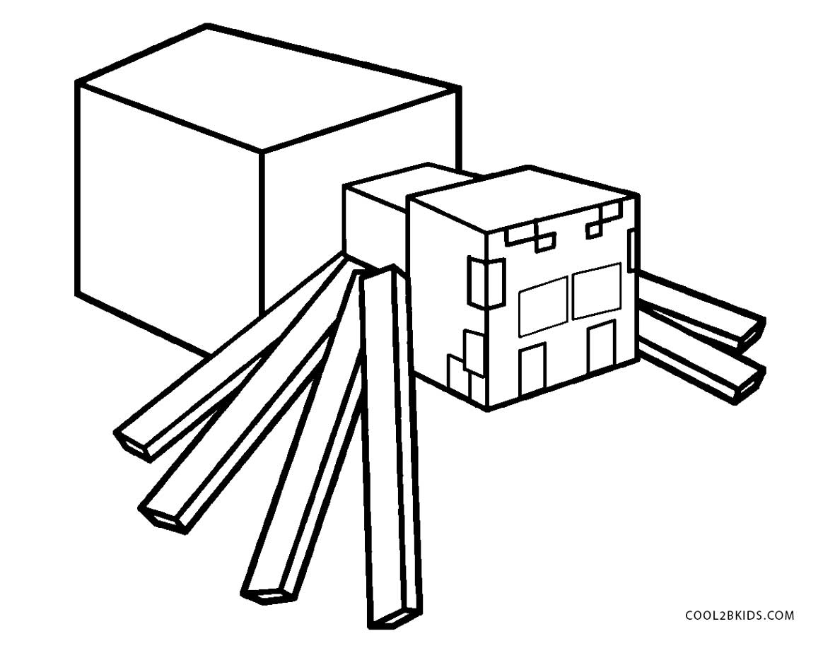 minecraft spider drawing free printable spider coloring pages for kids cool2bkids minecraft drawing spider