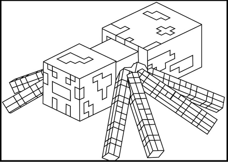minecraft spider drawing minecraft coloring pages printable minecraft spider minecraft spider drawing