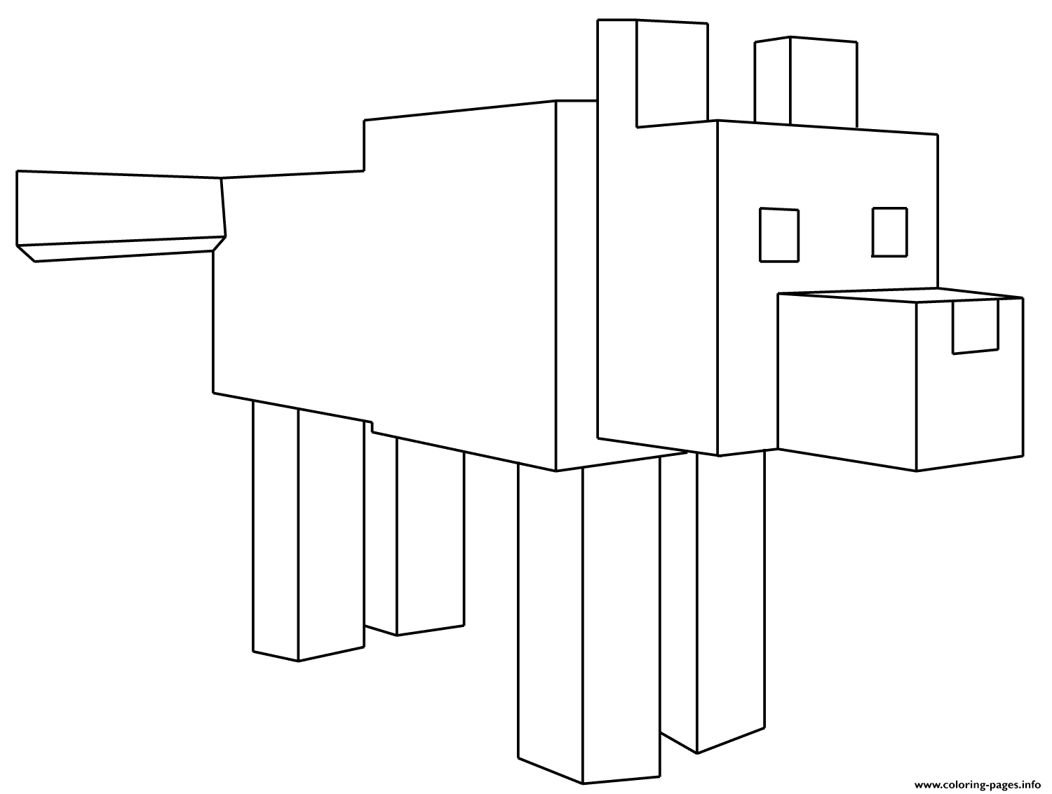 minecraft wolf coloring pages wire fence drawing at getdrawings free download pages minecraft wolf coloring