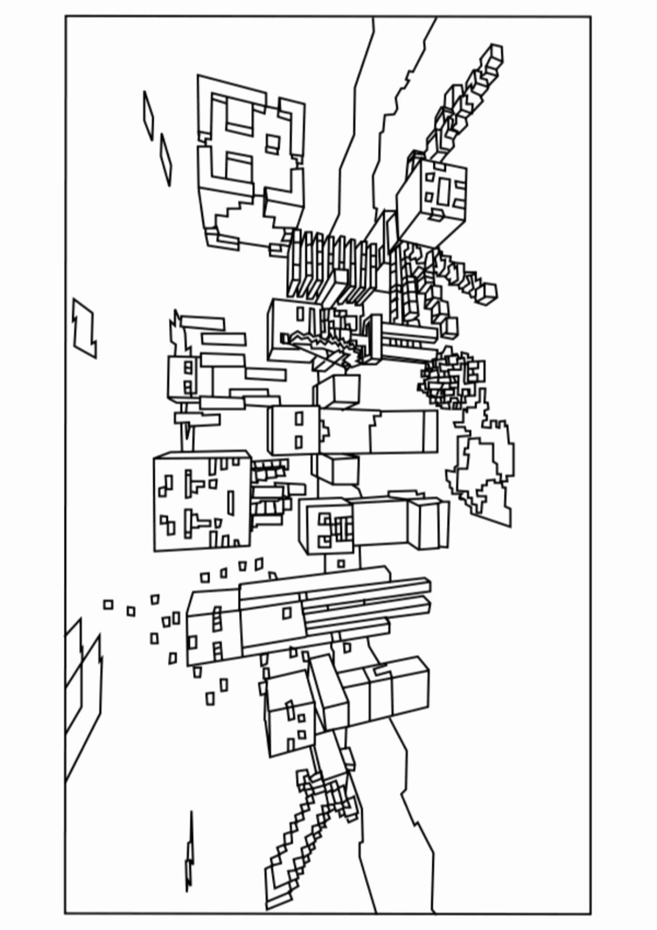 minecraft zombie pigman coloring pages minecraft boss claw coloring pages coloring pages ideas zombie coloring pages pigman minecraft