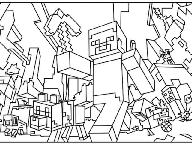 minecraft zombie pigman coloring pages minecraft coloring pages at getdrawings free download zombie pages pigman minecraft coloring