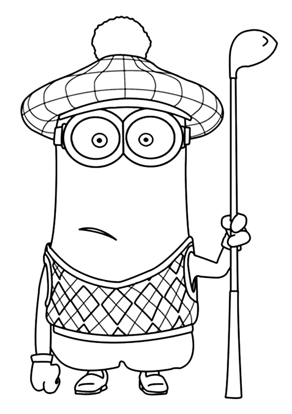 minion kevin coloring pages cute kevin minions coloring page trycoloring kevin minion coloring pages