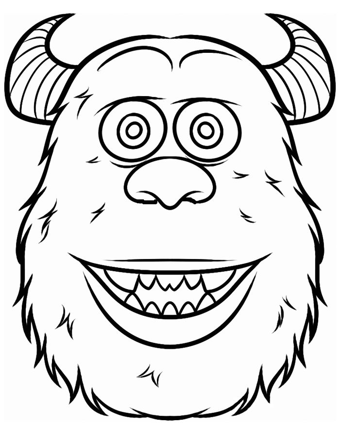 monster face coloring pages 31 best images about monsters inc coloring pages on coloring pages monster face
