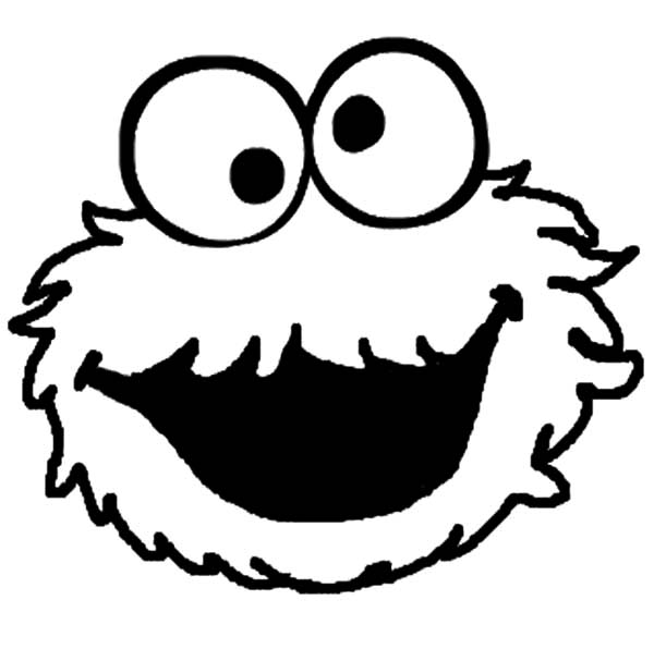 monster face coloring pages face coloring page getcoloringpagescom monster pages face coloring