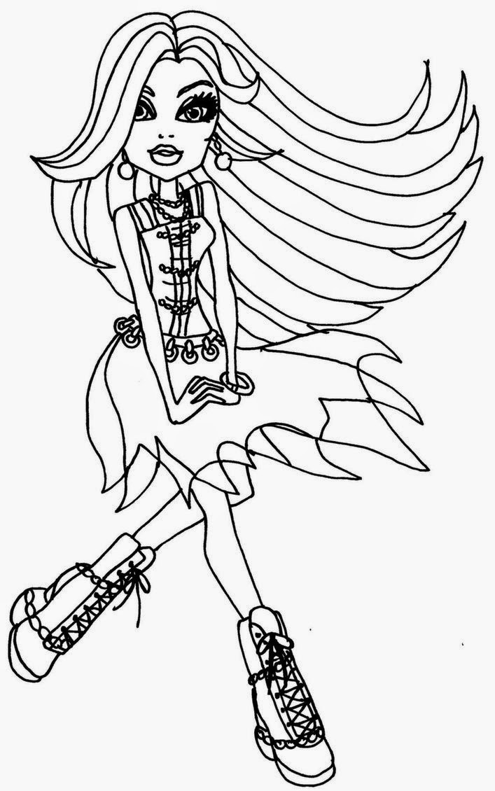 monster high coloring in coloring pages monster high coloring pages free and printable high in coloring monster 1 1