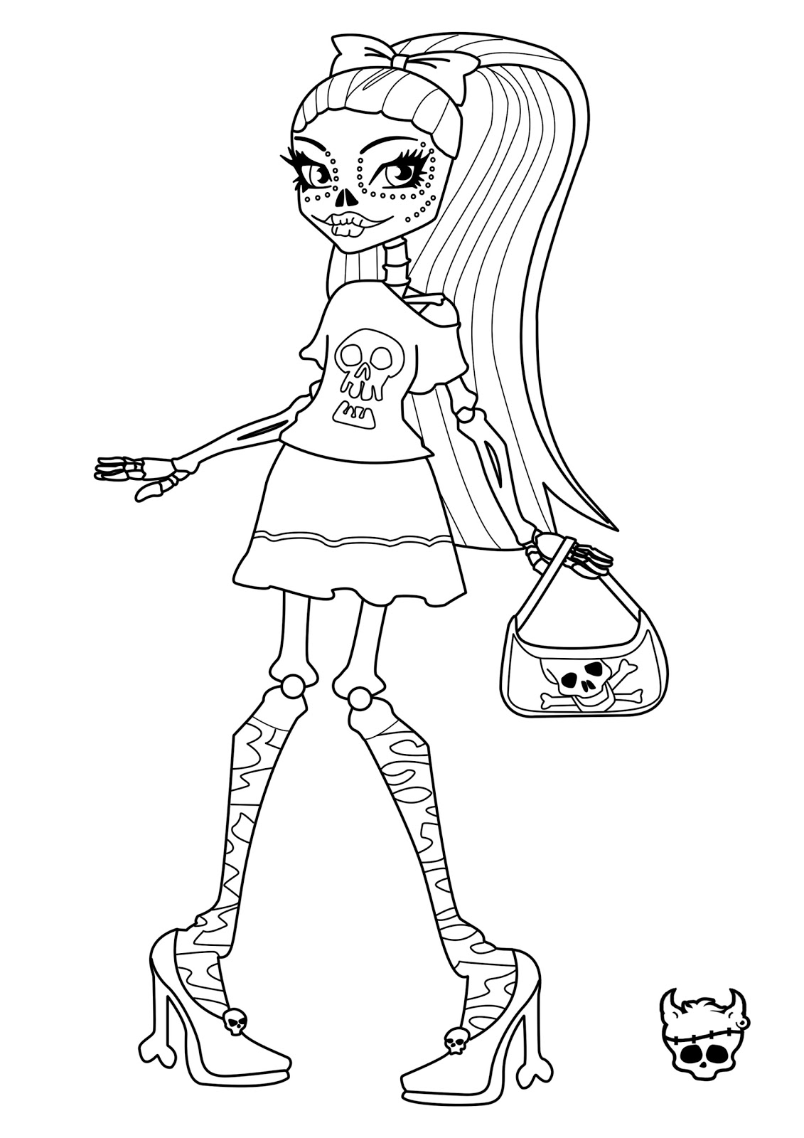 monster high coloring in coloring pages monster high coloring pages free and printable monster high in coloring 1 1