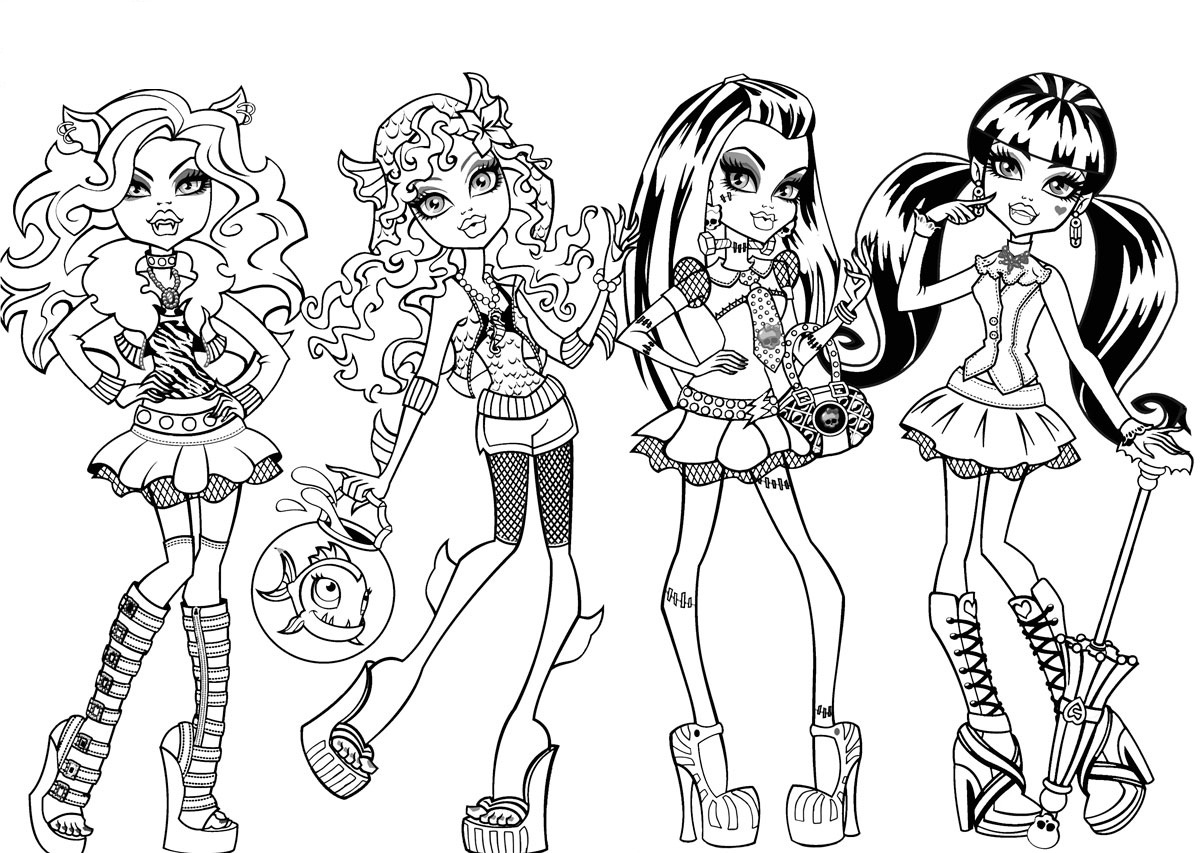 monster high coloring in free printable monster high coloring pages for kids in coloring high monster