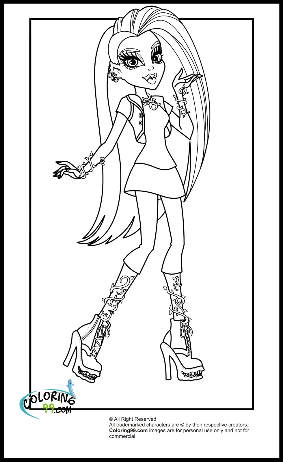 monster high coloring in monster high cleo coloring pages getcoloringpagescom monster coloring in high