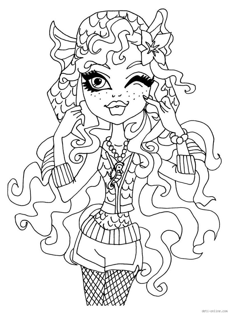 monster high coloring in print monster high coloring pages for free or download high in coloring monster