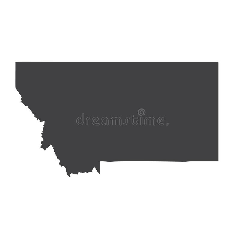 montana silhouette royalty free rf clipart illustration of a black silhouette montana