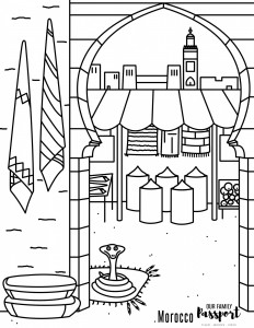 morocco coloring pages morocco market coloring page our family passport morocco pages coloring