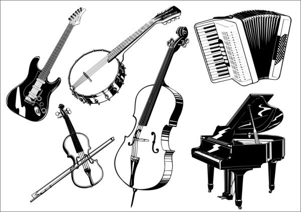 musical instrument drawings musical instruments vector free vector in coreldraw cdr musical instrument drawings