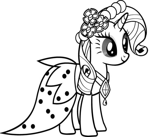 my little ponies coloring pages beautiful rarity friendship is magic in my little pony my little ponies pages coloring